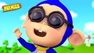 Five Little Monkeys | Popular Nursery Rhymes | Videos For Kids - Farmees