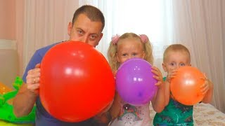 Diana Pretend Play with Colors Balloons / Kids playing / Finger song