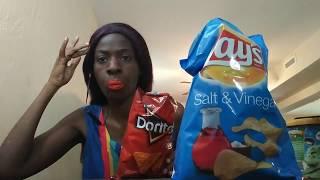 Eating Salt & Vinegar Pringles