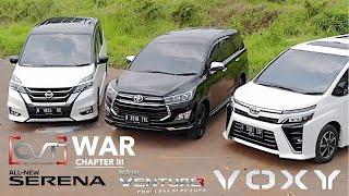 CVT WAR #3: Nissan Serena vs Toyota Innova Venturer vs Toyota Voxy