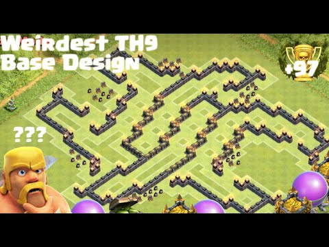 *Clash Of Clans* Town Hall 9 Farming Base (Strangest Base Design)