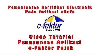 Instalasi Dan Konfigurasi Pada Aplikasi E-Nofa Online - Tutorial Penggunaan Aplikasi e-Faktur Pajak