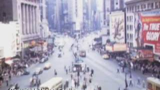 1945 Vintage color film from Times Square New York