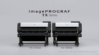 One Minute Introduction to The imagePROGRAF TX Series of Large Format Printers