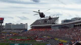 Coca-Cola 600 NASCAR Charlotte NC - Arrival of US Army Brigadier General in Helicopter 05.28.17