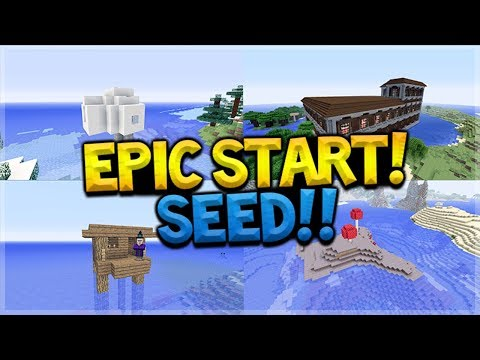 Woodland Mansions, Mooshroom Islands, Igloos & Guardian Temples Near SPAWN SEED!