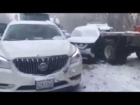 59 Vehicles Involved in Crash on I-80 in PA