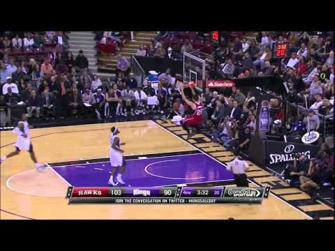 Kyle Korver Dunk - Atlanta Hawks Vs Sacramento Kings