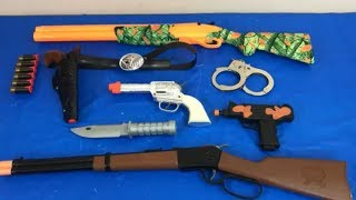 Box of Toys Toy Guns Cowboy Rifle Pistol Toys for Kids