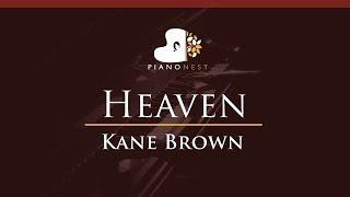 Download Lagu Kane Brown - Heaven - HIGHER Key (Piano Karaoke / Sing Along) Gratis STAFABAND