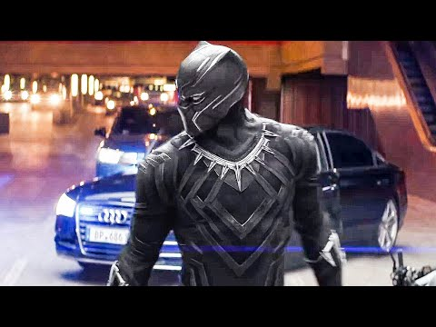 Captain America 3 Civil War NEW Movie Clip - Black Panther Chase (2016) Marvel Movie HD