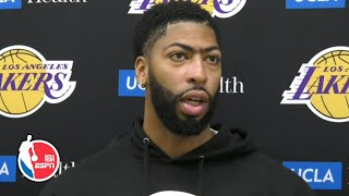 Anthony Davis provides thumb injury update, talks Lakers vs. Clippers on opening night | NBA on ESPN