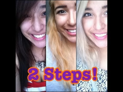 2 STEPS Dark brown to Blonde hair (light ash blonde)