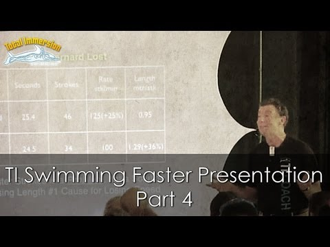TI Swimming Faster Presentation Part 4 - Olympic Champions are Terrestrial Mammals Too!