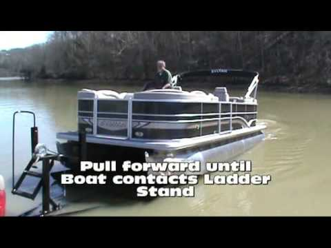 Unloading and Loading Pontoon by Sandhill Boat Co. Dayton TN
