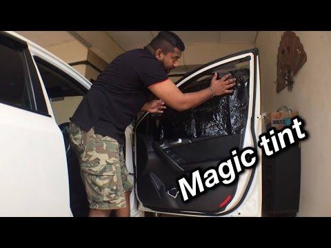 How to tint car window using Magic Tint