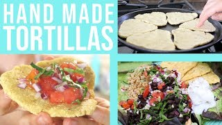 Hand-Pressed Masa Harina TORTILLA Recipe || EASY + VEGAN ||