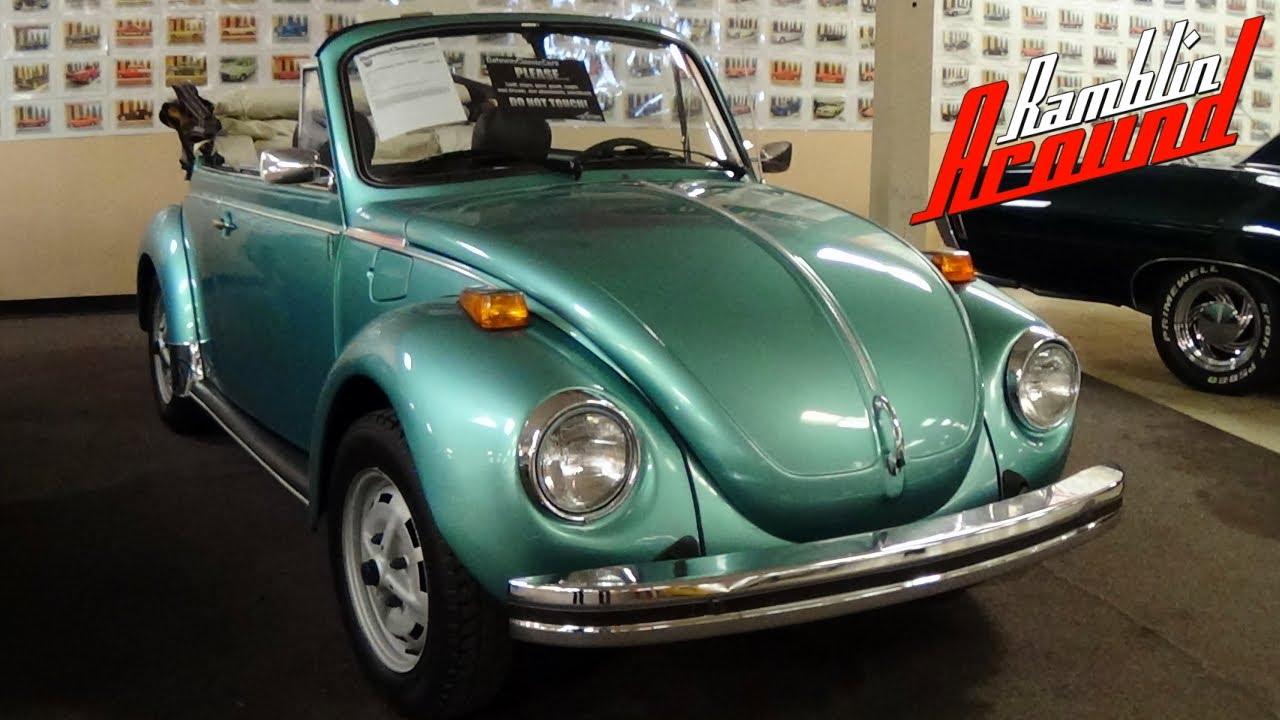 1979 Volkswagen Super Beetle Convertible Youtube