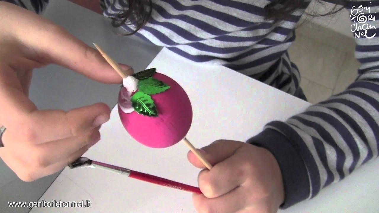 Uova di pasqua pitturate e decorate youtube - Uova decorate per bambini ...