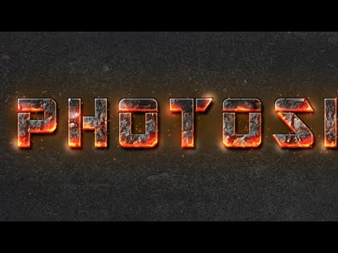 Fire Text Effect Photoshop cs6 tutorial - YouTube