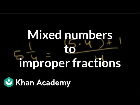 Converting Mixed Numbers to Improper Fractions