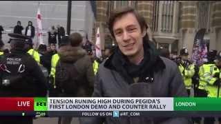 Pegida Face off Dirty Smelly Antifa Scum in London