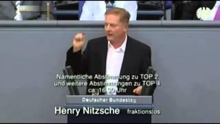 Teil 2 / Henry Nitzsche  spricht Klartext und schockt Bundestag Teil 2