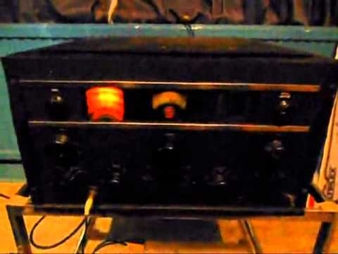rca ar88 valve radio on 80 meters hf ham band