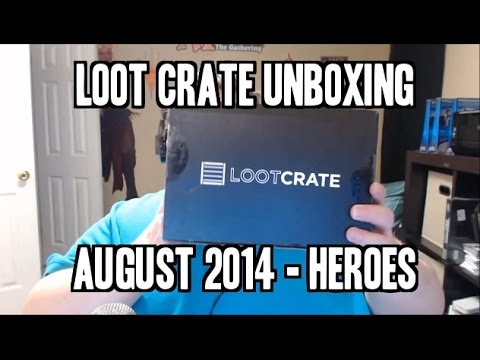 Loot Crate Unboxing - HEROES! August 2014