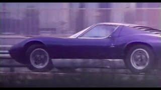 Miura P400 S, Jarama, Espada at Lamborghini factory in: 'Il sole nella pelle' (1971)