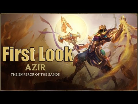 Azir League of Legends Champion Spotlight NEW Champion