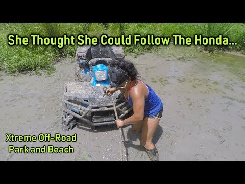 Xtreme Off-Road Park | She THOUGHT She Could Follow The Honda...