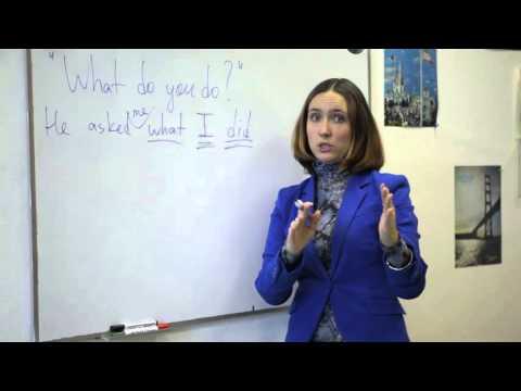 Questions in reported speech (Grammar)