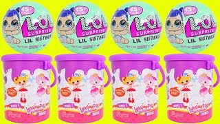 Don't Wake Shimmer and Shine LOL Surprise Dolls Bedtime Routine Wave Series 2 Lalaloopsy Party!