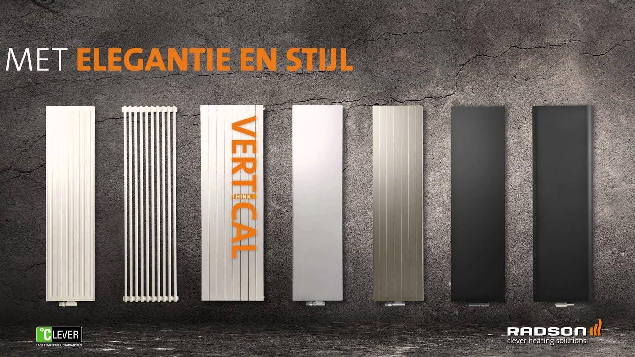 Woonkamer design radiator voor woonkamer : Radson - Verticale design radiatoren - YouTube