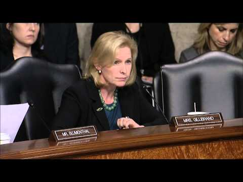 Gillibrand Questions Hagel at Armed Services Confirmation Hearing