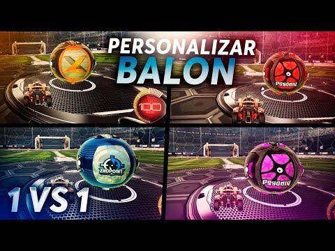 ¿COMO PERSONALIZAR EL BALÓN? Y JUGANDO 1 VS 1 ~ ROCKET LEAGUE