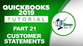 QuickBooks 2019 Training Tutorial Part 21: How to Create Customer Statements in QuickBooks