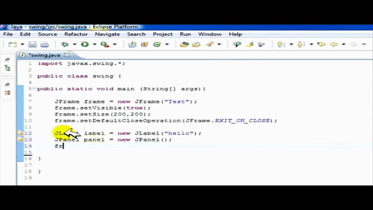 Create Jframe Jpanel Button Swing Gui In Java