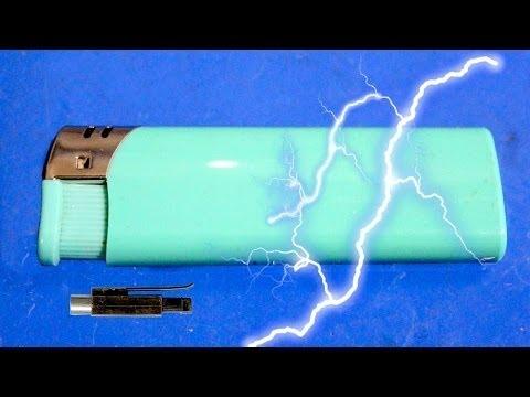 Как сделать электрошокер из зажигалки и батарейки 82