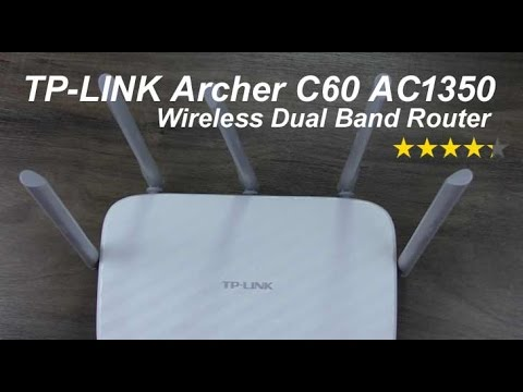 TP-LINK Archer C60 AC 1350 review - 5 Antennas