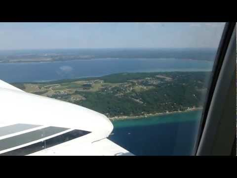 Flying around Traverse City, MI KTVC
