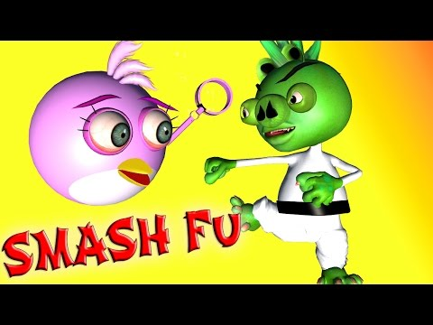 ANGRY BIRDS in SMASH FU  ♫  3D animated game mashup  ☺ FunVideoTV - Style ;-))