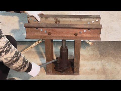 самодельный гидравлический Трубогиб для круглой трубы.