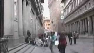 Strolling along the Uffizi Florence Italy