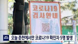 오늘 춘천에서만 코로나19 확진자 5명 발생