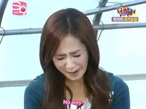 [eng] Snsd Yuri Sunhwa Hyuna funny lion pose (Yoga Class)