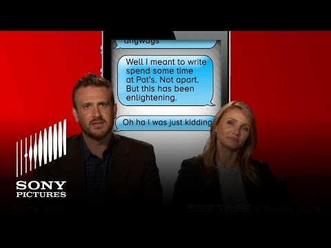 Sex Tape Movie - Cameron Diaz & Jason Segel Read Damn You Auto Correct video