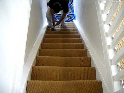 steam cleaning carpeted stairs