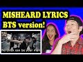 Lagu BTS TRY NOT TO LAUGH Misheard Lyrics REACTION!!!